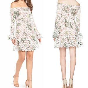 Endless Rose Dress Long Sleeve Lace Off Shoulder